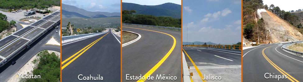 Los 5 Estados que más invirtieron en obras de carreteras.