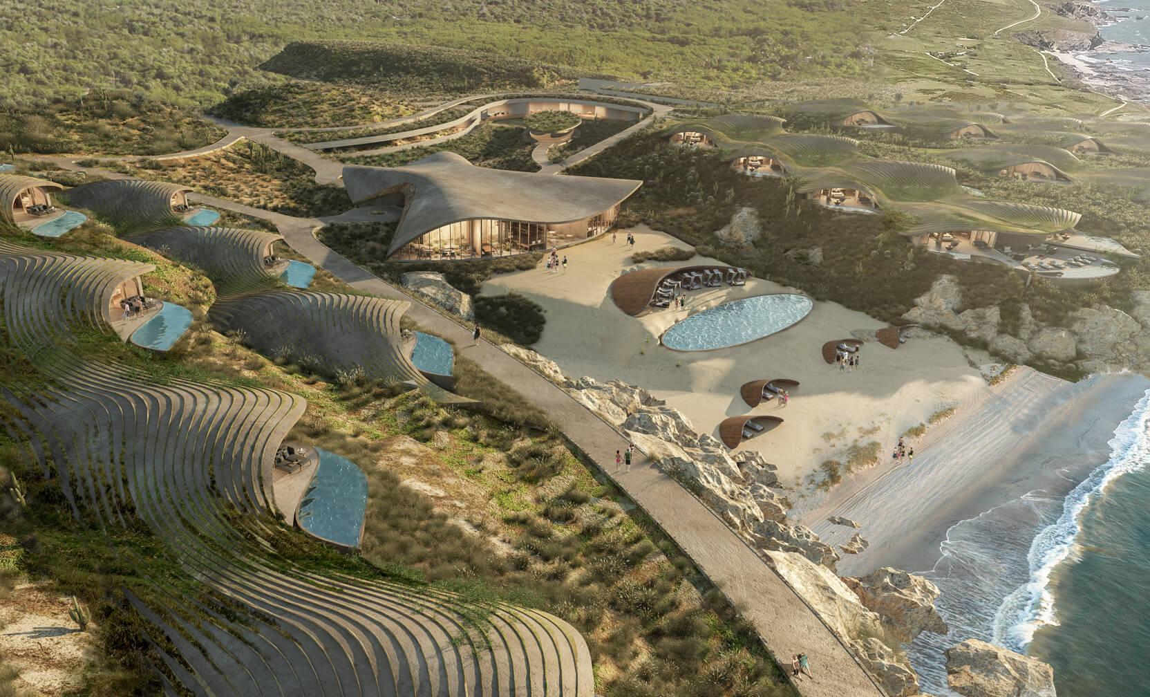 Nuevo hotel de Sordo Madaleno busca fusionarse con el paisaje desértico del Mar de Cortés